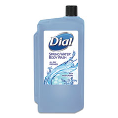 Dial® Professional Body Wash, Spring Water, 1 L Refill Cartridge, 8/Carton