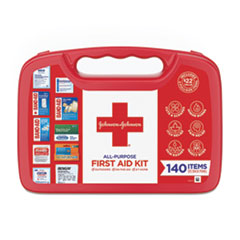 Johnson & Johnson® Red Cross® All-Purpose First Aid Kit, 140-Pieces, Plastic Case