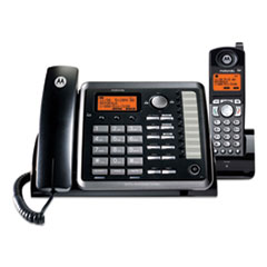 Motorola ViSYS 25255RE2 Two-Line Corded/Cordless Phone System with Answering System