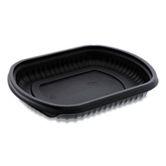 Pactiv EarthChoice ClearView MealMaster Container, 16 oz, 8.13 x 6.5 x 1, Black, 252/Carton