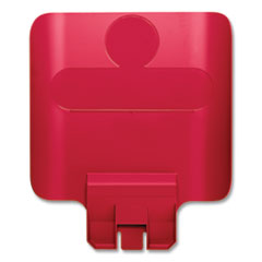 Rubbermaid® Commercial Slim Jim Recycling Station Billboard, Red