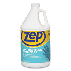 Zep® Antibacterial Hand Soap, Fragrance-Free, 1 gal Bottle, 4/Carton
