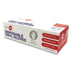 GN1 Single Use Vinyl Glove, Clear, Medium, 100/Box, 10 Boxes/Carton
