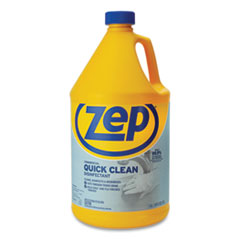 Zep® Quick Clean Disinfectant, Fresh, 1 gal Jug, 4/Carton