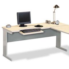 Maxon® Modular Worktable Return, 48w x 24d x 29-3/4h, Maple/Gray