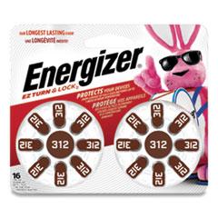 Energizer® Hearing Aid Battery, Zero Mercury Coin Cell, 312, 1.4V