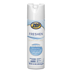 Zep® Freshen Disinfectant Spray, Spring Mist, 15.5 oz Aerosol Spray, 12/Carton