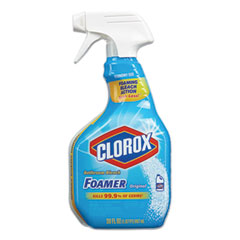 Clorox® Bleach Foamer Bathroom Spray, Original, 30 oz Spray Bottle, 9/Carton
