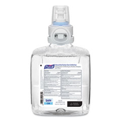 PURELL® Green Certified Advanced Refreshing Foam Hand Sanitizer, For CS8, 1,200 mL, Fragrance-Free, 2/Carton