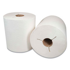 """Morcon Tissue Morsoft Controlled Towels, Y-Notch, 8"""" x 800 ft, White, 6/Carton"""