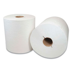 """Morcon Tissue Morsoft Controlled Towels, I-Notch, 7.5"""" x 800 ft, White, 6/Carton"""