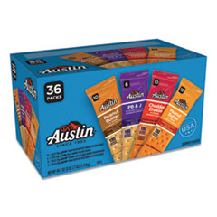 Austin® Variety Pack Crackers, Assorted Flavors, 1.38 oz Pack, 36/Box