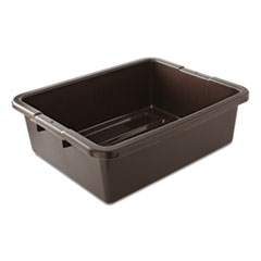 "Rubbermaid® Commercial Bus/Utility Box, 17.3"" x 7"" x 21.5"", Brown"