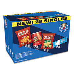Kellogg's® MVP Singles Variety Pack, Cheez-it Original/White Cheddar; Pringles Original; Rice Krispies Treats, 28.1 oz, 28/Box
