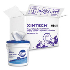 Kimtech™ Wipers for the WETTASK System, Quat Disinfectants and Sanitizers, 6 x 12, 140/Roll, 6 Rolls/Carton