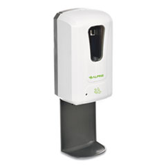 Alpine Automatic Hands-Free Foam Hand Sanitizer/Soap Dispenser with Drip Tray, 1,200 mL, 6 x 4.4 x 18, White