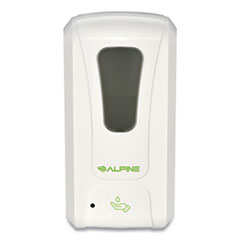 Alpine Automatic Hands-Free Liquid Hand Sanitizer/Soap Dispenser, 1,200 mL, 6 x 4.48 x 11.1, White