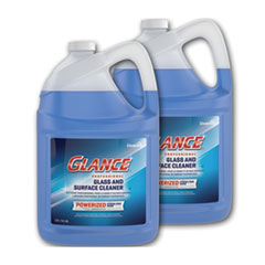Diversey™ Glance Powerized Glass and Surface Cleaner, Liquid, 1 gal, 2/Carton