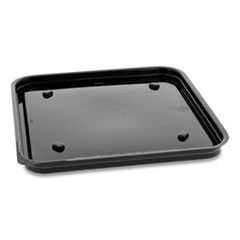Pactiv Recycled Plastic Square Base, 7.5 x 7.5 x 0.56, Black, 195/Carton