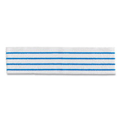 Rubbermaid® Commercial HYGEN™ Disposable Microfiber Pad, White/Blue Stripes, 4.75 x 19, 50/Pack, 3 Packs/Carton