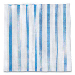 Rubbermaid® Commercial HYGEN™ Disposable Microfiber Cleaning Cloths, Blue/White Stripes, 12 x 12, 600/Pack