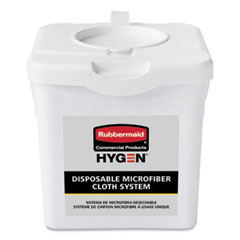 Rubbermaid® Commercial HYGEN™ Disposable Microfiber Charging Bucket, 7.92 x 7.75 x 7.44, White, 4/Carton