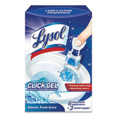 LYSOL® Brand Click Gel Automatic Toilet Bowl Cleaner, Ocean Fresh, 6/Box, 4 Boxes/Carton