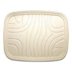 World Centric® Fiber Trays, PLA Lined, PFAS Free, 1-Compartment, 18 x 14 x 1, Natural, 100/Carton