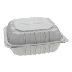 Pactiv Earthchoice® Vented Microwavable Hinged-Lid Takeout Container