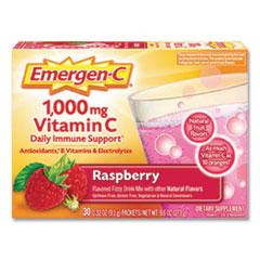 Emergen-C® Original Formula, Raspberry, 0.32 oz Packet, 30 Packets/Box