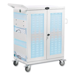 Tripp Lite UV Sterilization and Charging Cart, For 32 Devices, 34.8 x 21.6 x 42.3, White
