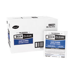 Diversey™ Beer Clean Glass Cleaner, Powder, 0.5 oz Packet, 100/Carton