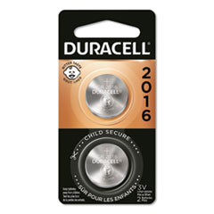 Duracell® Lithium Coin Battery, 2016, 2/Pack