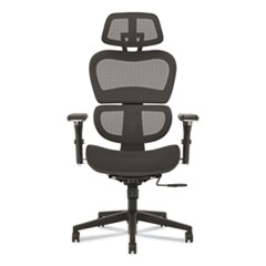 """HON® Neutralize High-Back Mesh Task Chair, Supports Up to 250 lb, 18.75"""" Seat Height, Black"""