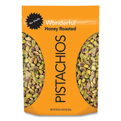 Wonderful® No Shell Honey Roasted Pistachios, 22 oz Bag, Free Delivery in 1-4 Business Days