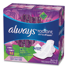 Always® Radiant Pads with Flexfoam, Heavy, 52/Box, Free Delivery in 1-4 Business Days