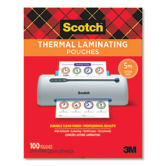 """Scotch™ Laminating Pouches, 5 mil, 9"""" x 11.5"""", Gloss Clear, 100/Pack"""