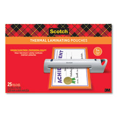 """Scotch™ Laminating Pouches, 3 mil, 11.5"""" x 17.5"""", Gloss Clear, 25/Pack"""