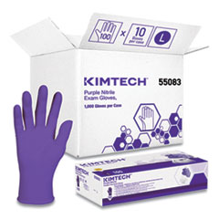 Kimtech™ PURPLE NITRILE Exam Gloves, 242 mm Length, Large, Purple, 1000/Carton