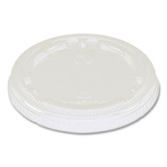"World Centric® Fiber Cup Lids, 3.1"" Diameter x 0.4""h, Clear, 1,000/Carton"
