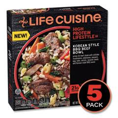 Life Cuisine™ High Protein Lifestyle Korean Style BBQ Beef Bowl, 10 oz Bowl, 5/Pack, Delivered in 1-4 Business Days