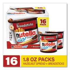 Nutella® Hazelnut Spread and Breadsticks, 1.8 oz Single-Serve Tub, 16/Pack, Free Delivery in 1-4 Business Days
