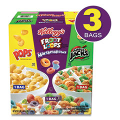 Kellogg's® Breakfast Cereal Variety Pack, 12.2 oz Apple Jacks/12.5 oz Corn Pops/12.6 oz Fruit Loops, Free Delivery in 1-4 Business Days