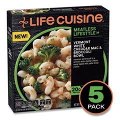 Life Cuisine™ Meatless Lifestyle Vermont White Cheddar Mac and Broccoli Bowl, 11 oz Bowl, 5/Pack, Delivered in 1-4 Business Days