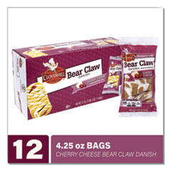 Cloverhill Bakery Cherry Cheese Bear Claw, 4.25 oz, 12/Pack, Free Delivery in 1-4 Business Days