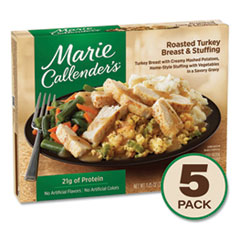 Marie Callender's® Roasted Turkey Breast and Stuffing, 11.85 oz Box, 5/Pack, Delivered in 1-4 Business Days