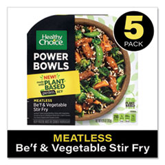 Healthy Choice® Power Bowl Gardein Beef and Vegetable Stir Fry, 9.25 oz Bowl, 5/Pack, Delivered in 1-4 Business Days