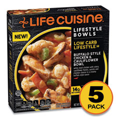 Life Cuisine™ Low Carb Lifestyle Buffalo Style Chicken and Cauliflower Bowl, 10 oz Bowl, 5/Pack, Delivered in 1-4 Business Days