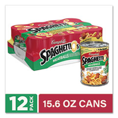 SpaghettiO's® Canned Pasta with Meatballs, 15.6 oz Can, 12/Pack, Delivered in 1-4 Business Days