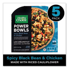 Healthy Choice® Power Bowl Spicy Bean and Chicken with Riced Cauliflower, 9.75 oz Bowl, 5/Pack, Delivered in 1-4 Business Days